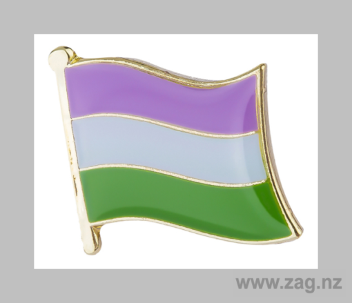 Genderqueer Pin Flag